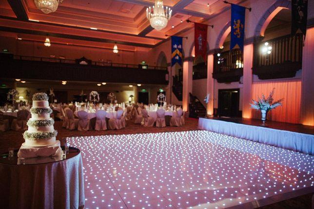 Parkiet taneczny LED biały