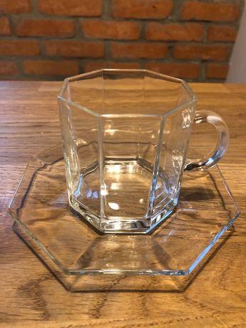 Zestaw szklany nowoczesny do kawy lub herbaty