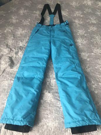 Spodnie narciarskie 158 cm z odpinanymi szelkami