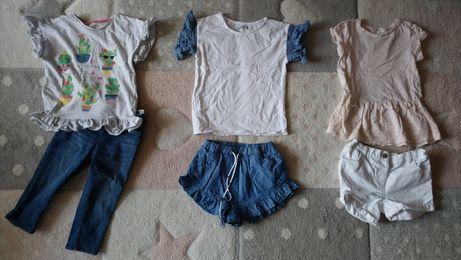 Mega paka paczka ubran zestaw na lato dla dziewczynki 40 szt. 110/116