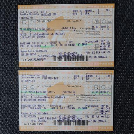 Bilety kolejowe Warszawa- Gdynia