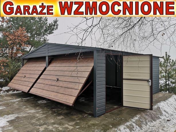 Garaże,garaż blaszany 6x5.6x6 wzmacniany struktura drewna