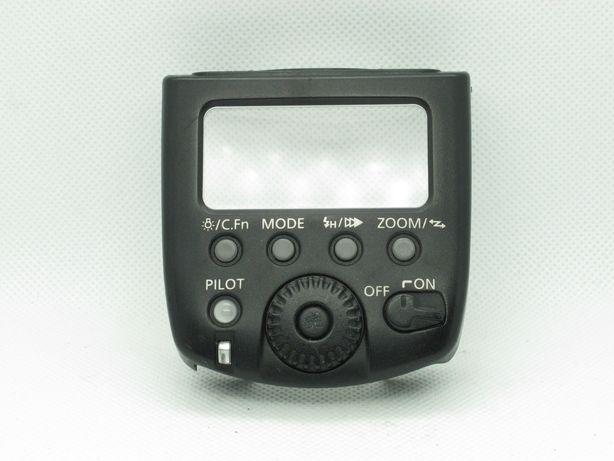 Flash Canon 580 EX II tampa traseira  painel de botões