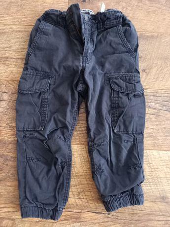 Spodnie joggery ocieplane