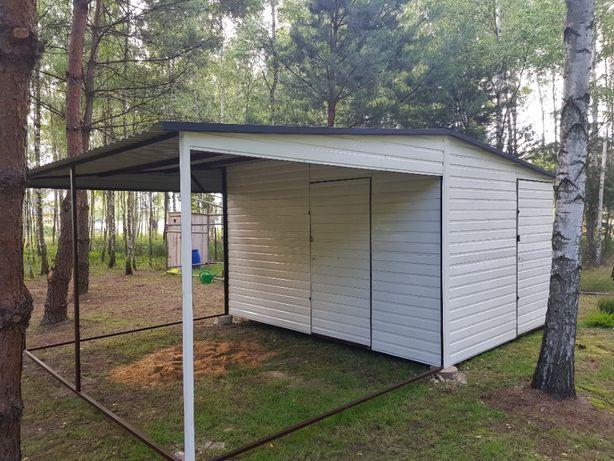 blaszak garaż na budowę schowek blaszany konstrukcja stalowa 3x6