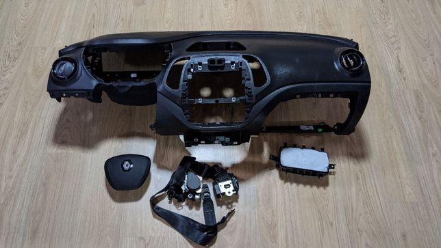 Conjunto Kit Airbags Renault Captur Tablier Original