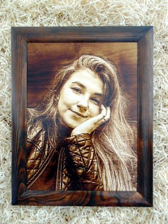 НЕЗАБЫВАЕМЫЙ ПОДАРОК!!! Выжигание портретов,картин,икон на дереве.