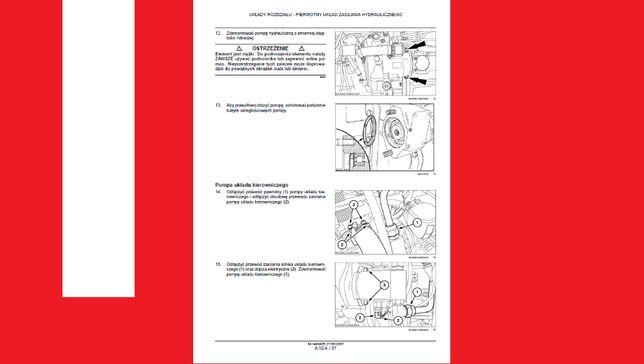CASE instrukcje napraw SERWISOWE warsztatowe WSZYSTKIE modele maszyn