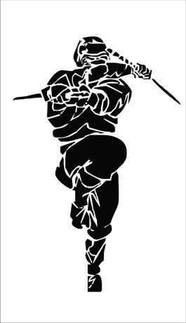 Samuraj wojownik naklejka na meble, szybę ścianę, samochód, auto