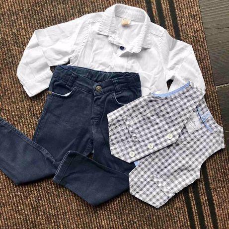 Костюм жилетка рубашка джинси
