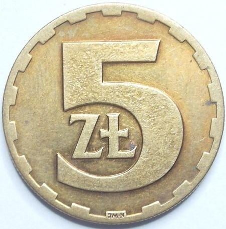 5 złotych - okres PRL-lu