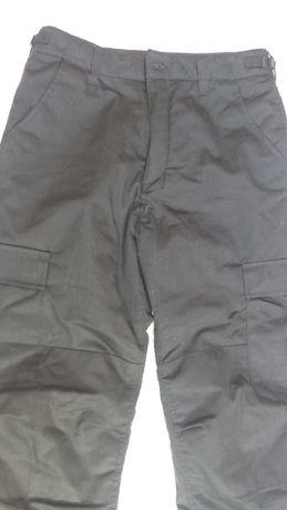 Wojskowe taktyczne militarne spodnie termiczne BDU Czarne rozm. M