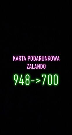 Karta podarunkowa bon zalando 948 za 700 zl