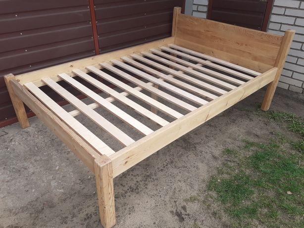 Łóżko sosnowe 130x200 gr.3.5cm. lite drewno transport