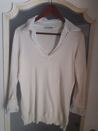 Рубашка блуза белая  maje  ermanno scervino