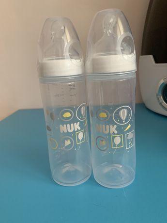 Бутылочки Nuk 250мл новые 2шт