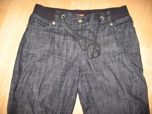 spodnie jeansowe granatowe, mogą być ciążowe