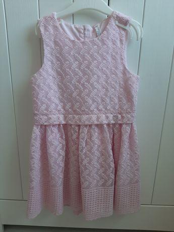 Sukienka 116cm coccodrillo jak nowa różowa