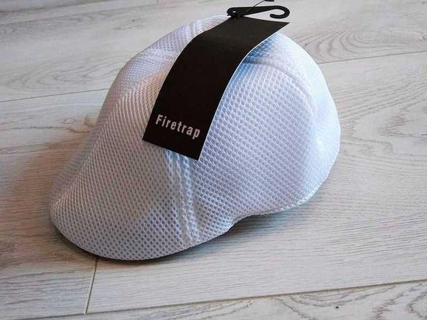 kaszkiet męski marki Firetrap lekki przewiewny biały roz. uniwersalny