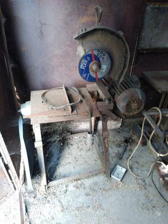 Piła stołowa do cięcia metalu, rur, prętów, gumówka 4KW