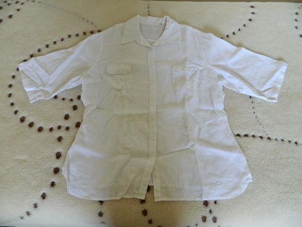 Lniana koszula bluzka biała Jake's 100% len XL Nowa