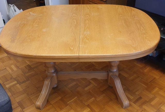 Stół duży, dębowy, rozkładany sprzedam