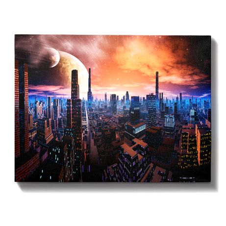 Obraz na płótnie wzór: Cyber City