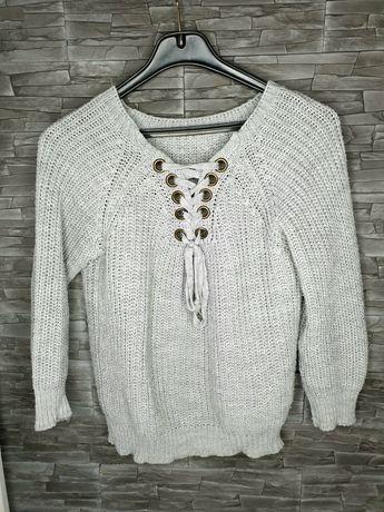Sweter szary ciepły