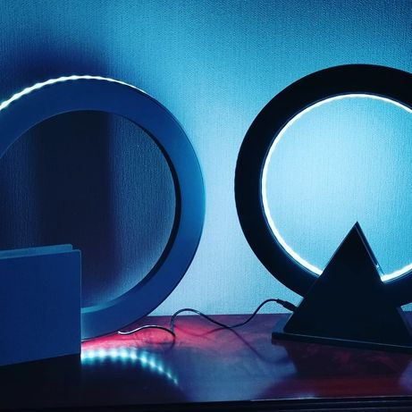Дизайнерский светильник. Ночник, настольная лед лампа RGB