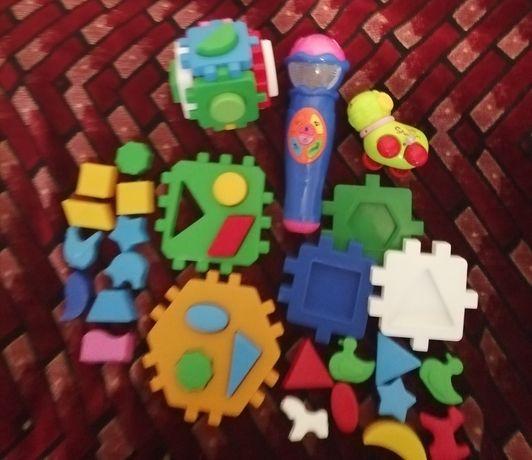 Микрофон интерактивный, сортер куб Умный малыш, игрушка заводная