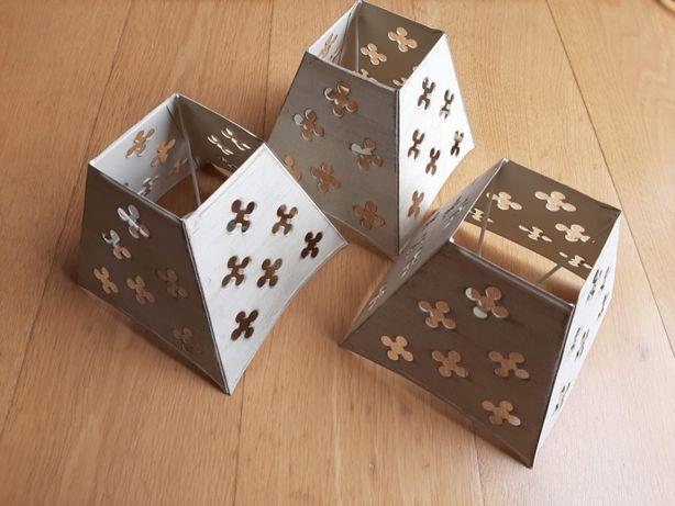 Abajures de metal x3