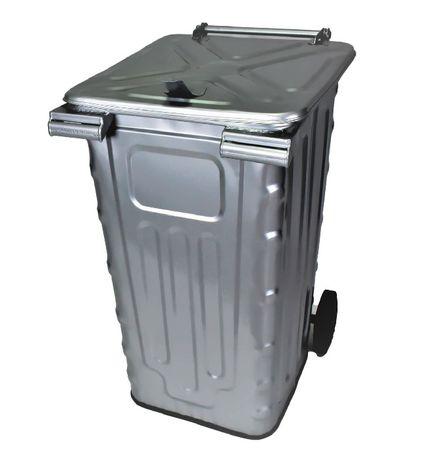 Pojemnik metalowy na odpady POPIÓŁ SMK-240l kosz EN840
