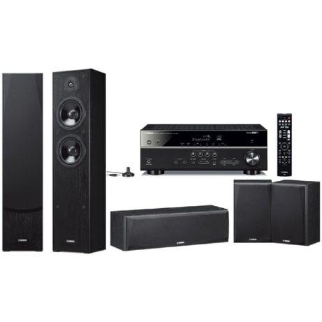Yamaha MusicCast RX-V483, NS-F51/NS-P51 (czarny)