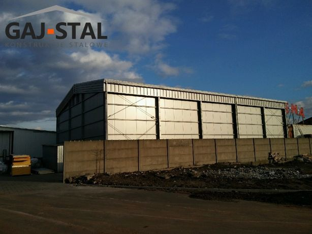 hala stalowa mroźnia, chłodnia 16x30x6 GAJ-STAL