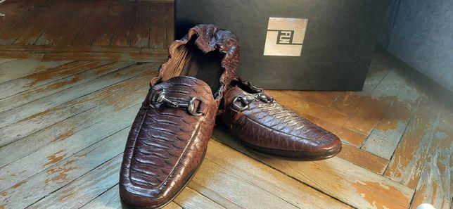 Мужские туфли. Италия. Крокодил. 42