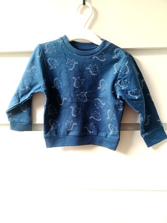 Bluza Sinsay Fox&Bunny niebieska 80 cm