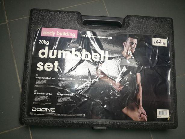 Vendo pesos para musculação - kit completo