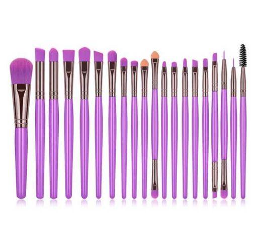 Conjunto de 20 Pinceis Maquilhagem - Lilas