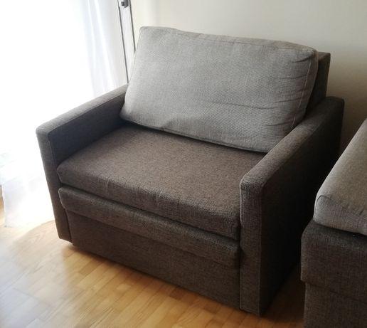 Sofa - fotel rozkładany z pojemnikiem na pościel