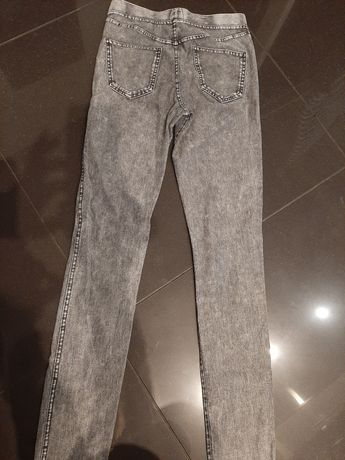 Jeansy miękkie spodnie 158 -164HiM