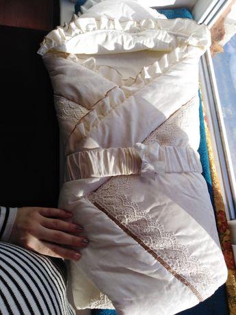Конверт-одеяло на выписку с роддома