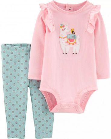 Carter's Llama Bodysuit. Комплект брюки-боди на девочку 6м