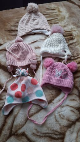 Зимние шапочки H&M для девочек