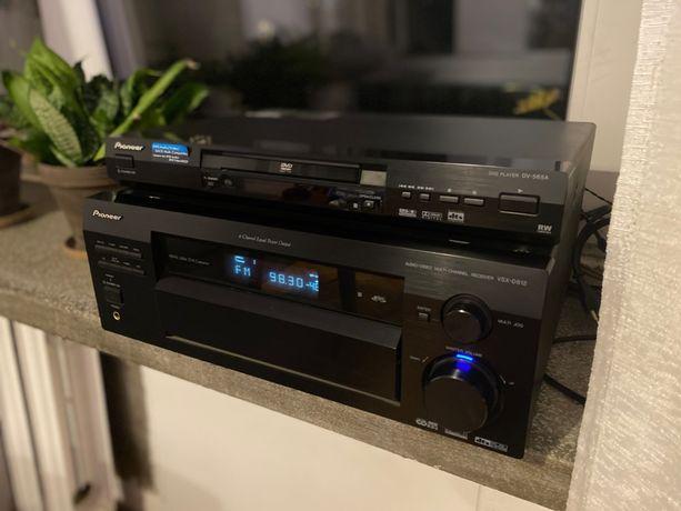 Amplituner Pioneer VSX D812 K + Odtwarzacz DVD Pioneer DV 565A