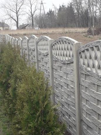 Ogrodzenia betonowe płyty słupki  ogr panel wraz z montażem