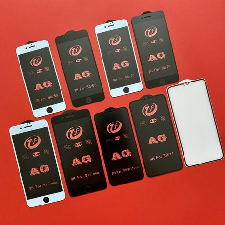 Матовое защитное стекло для на IPhone SE 6 7 8 plus X XR Xs 11 pro Max