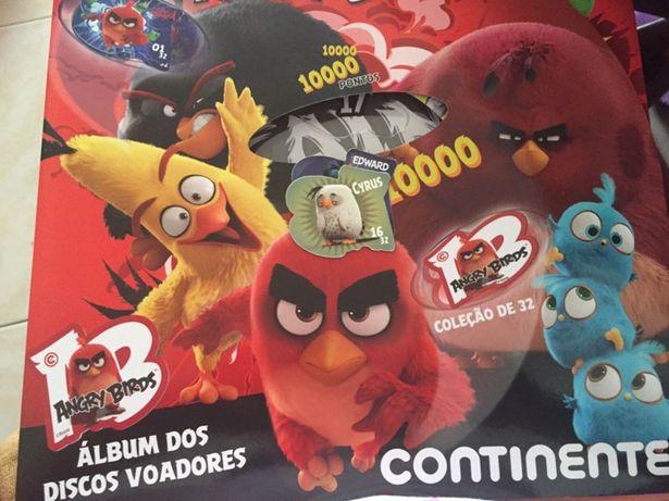 Caderneta Angry Birds de tazos - NOVA