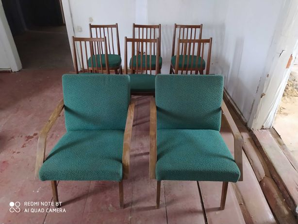 Stare krzesła i fotele 1971r.