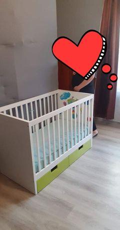 Łóżeczko niemowlęce dziecięce Ikea regulowane