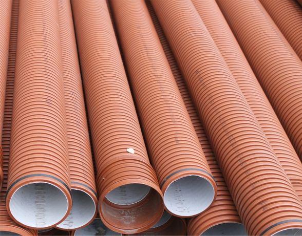 Гофрированная наружная канализация (геотекстиль, дренажные трубы)